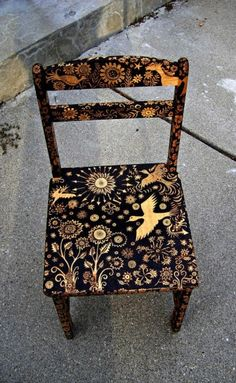 Chair + paint.