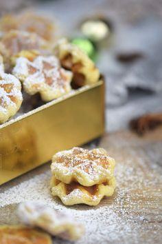 Spekulatius - Waffelplätzchen - Speculoos Waffle Christmas Cookies   Das Knusperstübchen