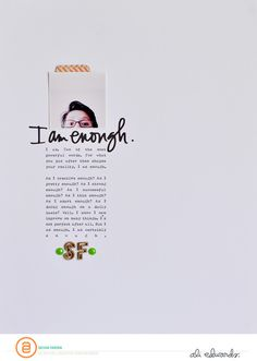 I am enough by Sasha at @studio_calico #studiocalico #scrapbooking #scrapbooklayout