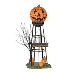 Halloween Water Tower Jack o' Lantern Annual Pumpkin Festival Halloween Town, Halloween Village Display, Halloween Home Decor, Halloween Pumpkins, Halloween Decorations, Halloween Ideas, Halloween Stuff, Halloween Crafts, Halloween Knitting