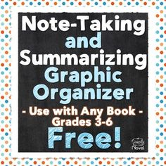 This Note-Taking Chart is a simple graphic organizer to help students in grades 3-6 take notes either during or after reading a chapter of fiction!