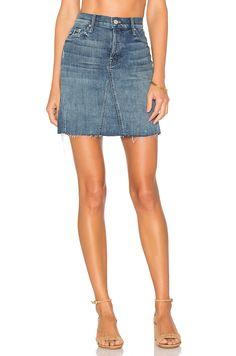 Mother Four Points Mini Fray Skirt In Gypsy Miranda Kerr, Work Skirts, Mini Skirts, Cool Silhouettes, Mother Denim, Summer Denim, Cotton Skirt, Revolve Clothing, Denim Skirt