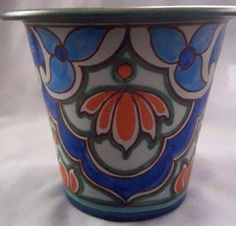 Holland Gouda pottery vase/flower pot signed item eight