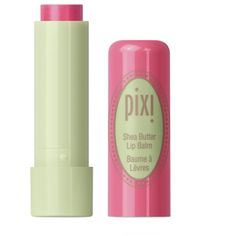 Pixi Shea Butter Lip Balm ($13) ❤ liked on Polyvore featuring beauty products, skincare, lip care, lip treatments, makeup, beauty, lips, fillers, lip balm and coral crush