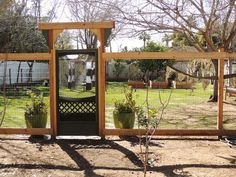 Boho Farm and Home: The Evolution of the Farm-Part 1  an old screen door as a gate for the garden....