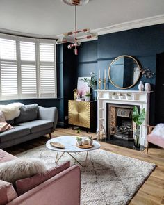 Adorable Awesome Living Room Mirrors Design Ideas That Will Admire You. Adorable Awesome Living Room Mirrors Design Ideas That Will Admire You. Dark Living Rooms, Living Room Mirrors, New Living Room, Interior Design Living Room, Home And Living, Living Room Decor, London Living Room, Interior Paint, Interior Livingroom