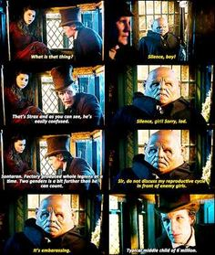 [gif] LOVE this bit, haha! I do like Strax...not such a big fan of Vastra, but I love Strax and his grenades. And his suit, haha!