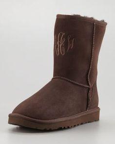 #UGGCLAN - UGG BOOTS ONLINE OUTLET, ugg australia UGG Australia Monogrammed Classic Short Boot, Chocolate ugg outlet