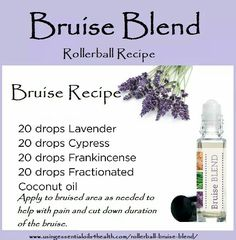 Bruise blend rollerball ~~ Essential oils for bruises