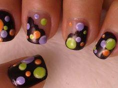 Bubble Nail Art *Halloween Colors*