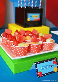 Fruit cup idea perfect for wizard of oz party