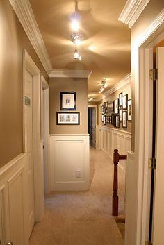 Hallway with wainscotting via DesignDump