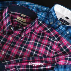 Recuerda que los cuadros son un #musthave en tus prendas esta temporada. ¿Qué te parecen estas camisas de #Scappino?