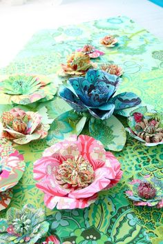 variety of Amy Butler fabric flowers
