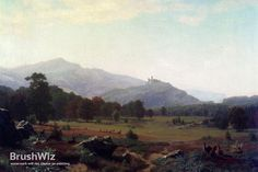 Autumn In The Conway Meadows by Albert Bierstadt - Oil Painting Reproduction - BrushWiz.com