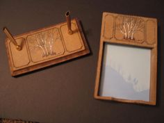 Ron Lederer Artist Pottery Studio TN Notepad Holder Desk Set Trees Unique