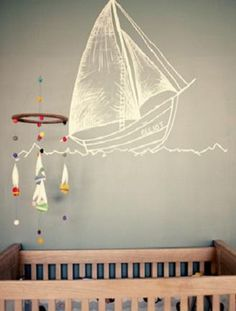 With Ice Age: Continental Drift in theaters tomorrow (we hear our prehistoric friends are lost at sea in this one), we were feeling inspired by nautical-themed nurseries today. Here are some ideas for getting the look in baby's room. What do you think of the nautical theme? Would you use it in your nursery?