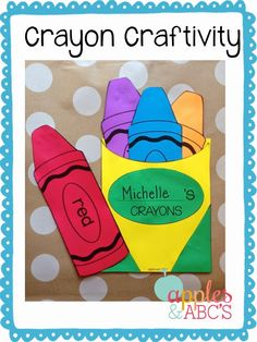Apples and ABC's: All About Colors! Crayon Craftivity