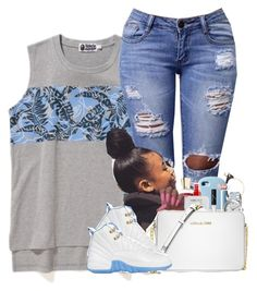 """"""""""" by kennisha84 ❤ liked on Polyvore featuring A BATHING APE, Happy Plugs, Thom Browne, Beats by Dr. Dre, Michael Kors and NARS Cosmetics"""