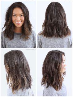 KARINA Haircuts For Medium Hair, Medium Hair Cuts, Medium Hair Styles, Short Hair Styles, Mid Length Hair, Shoulder Length Hair, Asian Haircut, Hair Today, Balayage Hair