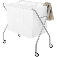 Whitmor Deluxe Laundry Sorter, Silver