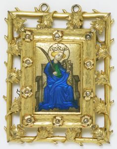 St. Catherine Reliquary pendant, about 1380-1390. Museum no. M.350-1912