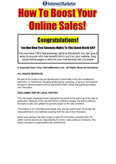 How To Make Money Online -How To Boost Your Online Sales