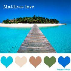 color  Maldives love