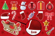 Check out Christmas Stickers 3D by pixaroma on Creative Market