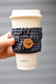 Just be happy!: Basket Weave Coffee Sleeve {Free Pattern}