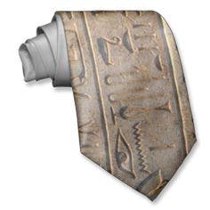 Ancient Egyptian Hieroglyphs Designer Gift Custom Ties