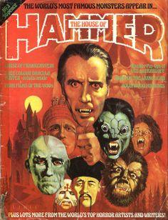 Hammer's House of Horror Hammer's Halls of Horror G. Editor: Dez Skinn 1976 - 1978 Halls of Horror Qualit. Hammer Movie, Hammer Horror Films, Hammer Films, Sci Fi Horror, Horror Comics, Arte Horror, Horror Art, Horror Posters, Movie Posters