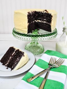 Chocolate cake with cream cheese frosting.  The best chocolate cake.  Just saying....