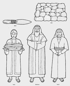 Image from http://mewarnai.us/images/402980-abraham-sarah-and-isaac-coloring-page-knife-altar-isaac-abraham.jpg.