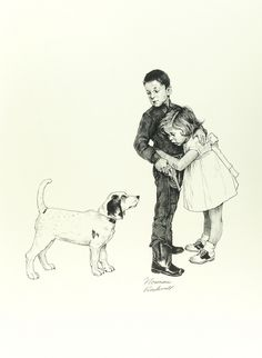 Norman Rockwell, Save Me, Lithograph on Paper, Limited Edition