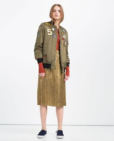 ZARA - COLLECTION SS16 - OVERSIZED BOMBER JACKET WITH PATCHES
