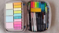 Inside my kipling 100 pens pencil case