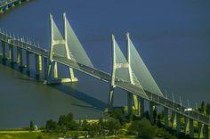Vasco da Gama bridge, Lisbon, Portugal by Jakub Hajost on 500px