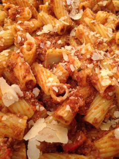 A very simple but tasty dish, Penne Bolognese.