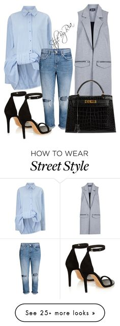 """""""Street style"""" by stylebyria on Polyvore featuring Victoria, Victoria Beckham, Topshop, Isabel Marant and Hermès"""