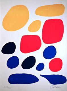 Alexander Calder: Flight, color serigraph, 1970.
