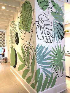 Wall Painting Decor, Mural Wall Art, Wall Paintings, Mural Cafe, Street Mural, Creative Walls, Home Room Design, Cafe Interior, Diy Wall