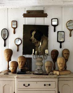 Wall decor - hand mirrors