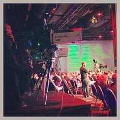 Alles wordt opgenomen en gestreamd, dat is duidelijk #MediaparkJaarcongres op het #Mediapark #Hilversum #mpjc2014 #iMMovator