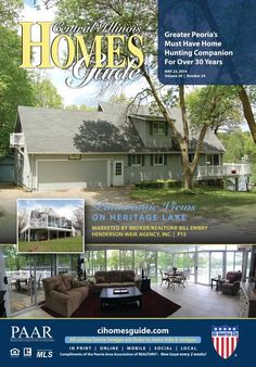 Beautiful house on the lake with a gorgeous view from the sunroom!! Find many great homes in the Central Illinois Homes Guide!