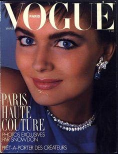 Vogue Paris cover with Paulina Porizkova - March 1986