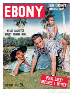 Pearl Bailey and her husband, drummer Louie Bellson, pictured on Ebony with their adoptive son. Jet Magazine, Black Magazine, Ebony Magazine Cover, Magazine Covers, Pearl Bailey, Vintage Black Glamour, Retro Vintage, Essence Magazine, Thing 1