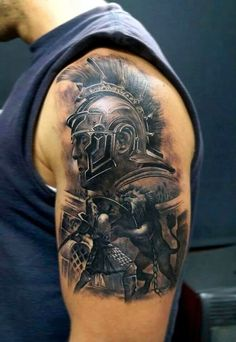 40 Strong and Perfect Warrior Tattoos - Bored Art