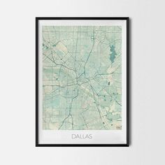 Dallas art posters and prints of your favorite city. Unique map design of Dallas. Perfect for your house and office or as a gift for friend.Map Print - Minimalist City Map Art Poster - Interior Ideas, Wall Art Gift, Cool Art Prints, Unique Map Posters, Cheap Bedroom Gifts, Decorative Design