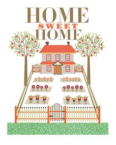 CbyC Studio Original Home Sweet Home Print  by cbycdesignstudio